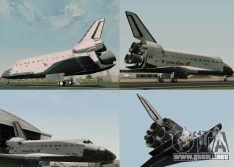 Space Shuttle para visión interna GTA San Andreas