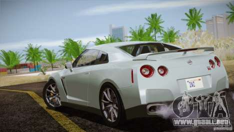 Nissan GTR Black Edition para la vista superior GTA San Andreas