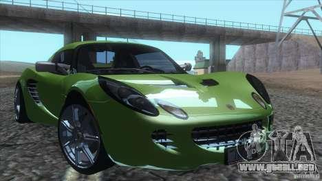 Lotus Elise para visión interna GTA San Andreas