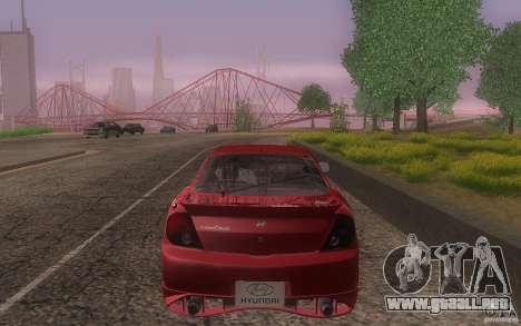 Hyundai Tiburon V6 Coupe tuning 2003 para la vista superior GTA San Andreas