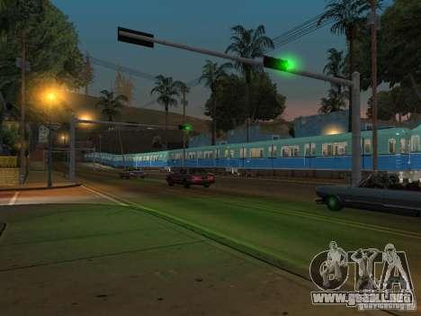 Metro e para GTA San Andreas vista hacia atrás