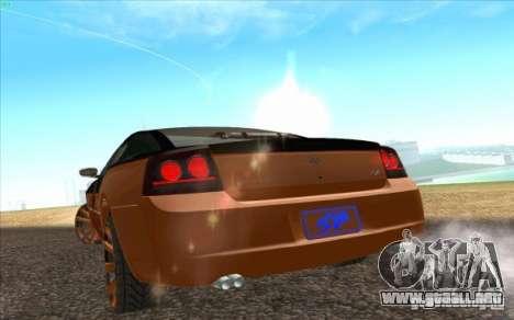 Dodge Charger SRT 8 para GTA San Andreas vista hacia atrás
