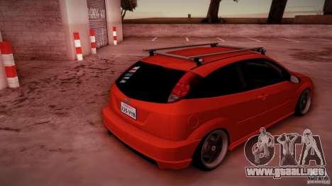 Ford Focus SVT Clean para vista inferior GTA San Andreas