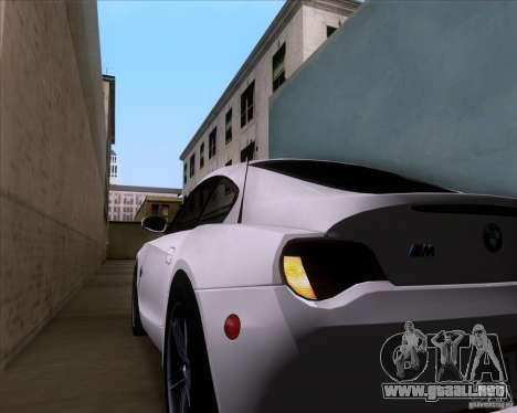 BMW Z4 M Coupe para vista inferior GTA San Andreas