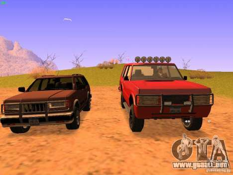 Huntley Superior para GTA San Andreas left
