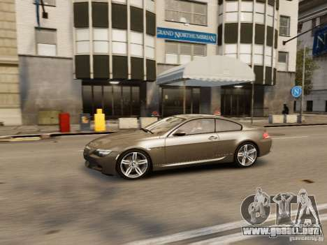 BMW M6 2010 para GTA 4 vista superior