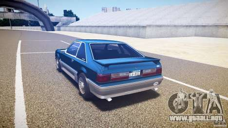 Ford Mustang GT 1993 Rims 1 para GTA 4 Vista posterior izquierda