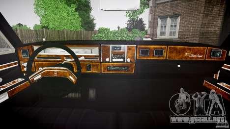 Lincoln Continental Town Coupe v1.0 1979 para GTA 4 vista hacia atrás