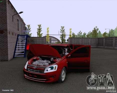 VAZ 2190 drenaje para visión interna GTA San Andreas