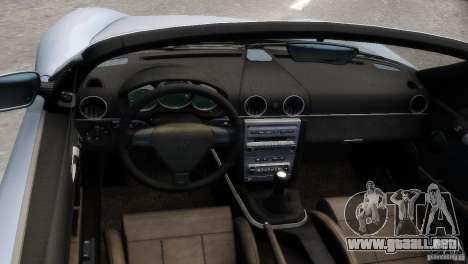 RUF RK Spyder 2006 [EPM] para GTA 4 vista interior