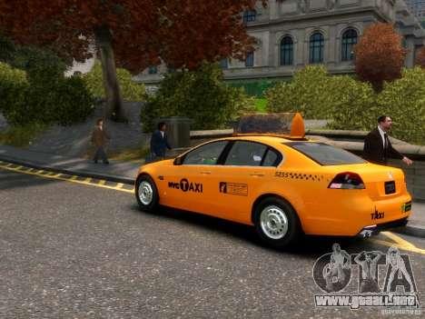 Holden NYC Taxi para GTA 4 Vista posterior izquierda