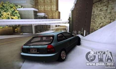 Honda Civic EK9 para GTA San Andreas vista posterior izquierda