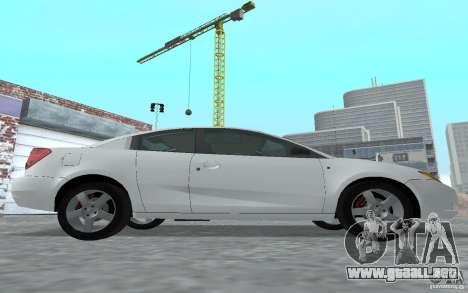 Saturn Ion Quad Coupe para GTA San Andreas vista posterior izquierda