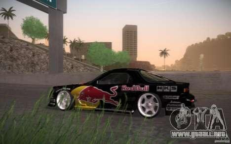 Mazda RX7 Madmikes Redbull para GTA San Andreas vista posterior izquierda