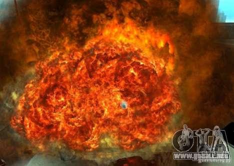 Nuevos efectos de explosiones para GTA San Andreas octavo de pantalla