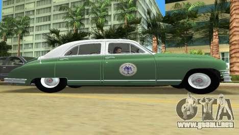 Packard Standard Eight Touring Sedan Police 1948 para GTA Vice City vista posterior