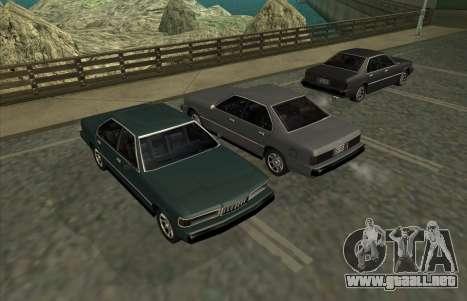 New Sentinel para GTA San Andreas vista posterior izquierda