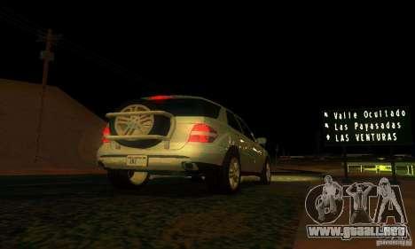 Mercedes-Benz ML500 para la vista superior GTA San Andreas