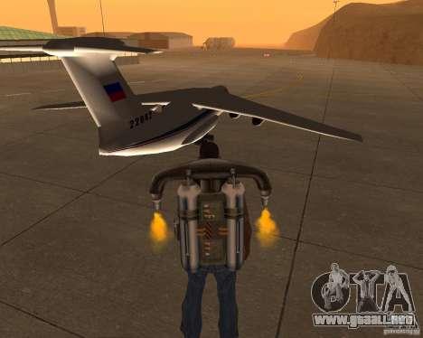 El IL-76 para GTA San Andreas vista posterior izquierda