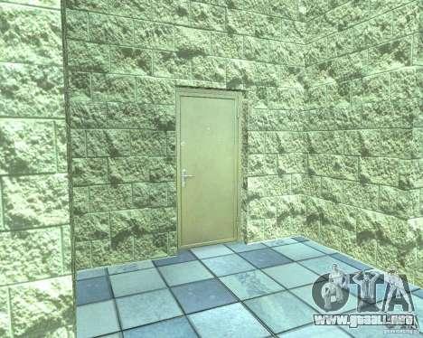 HD garaje en Doherty para GTA San Andreas quinta pantalla
