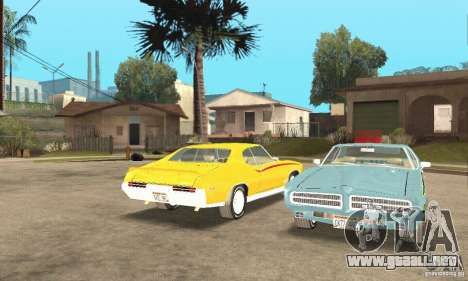 Pontiac GTO The Judge para visión interna GTA San Andreas