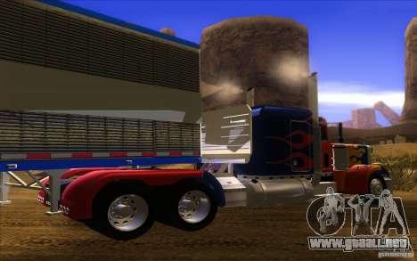 Truck Optimus Prime v2.0 para la visión correcta GTA San Andreas