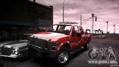 Ford Chief F250 para GTA 4 vista superior