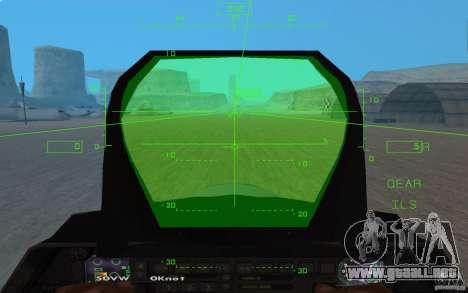 F/A-22 Velociraptor para visión interna GTA San Andreas