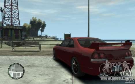 Nissan Skyline GT-R V-Spec 1998 para GTA 4 Vista posterior izquierda