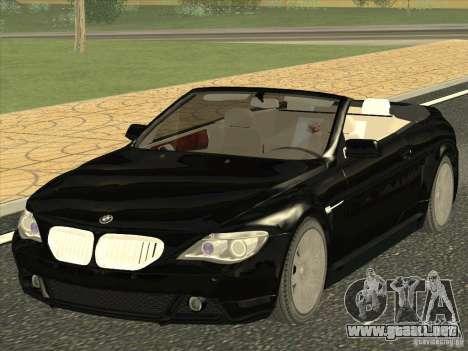 BMW 650I para GTA San Andreas
