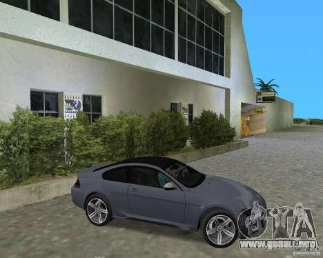 BMW M6 para GTA Vice City visión correcta