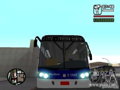Busscar Urbanuss Ecoss MB 0500U Sambaiba para vista lateral GTA San Andreas
