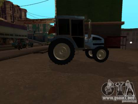 Tractor МТЗ 922 para GTA San Andreas vista posterior izquierda
