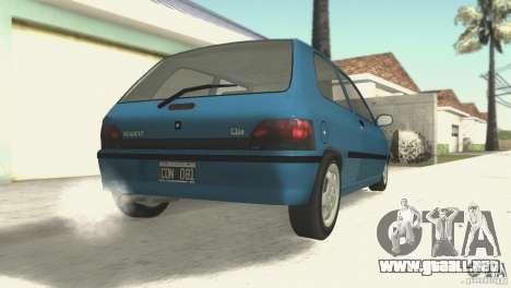Renault Clio RL 1996 para la visión correcta GTA San Andreas