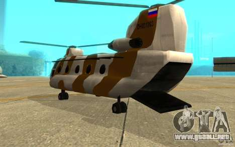 GTA SA Chinook Mod para la visión correcta GTA San Andreas