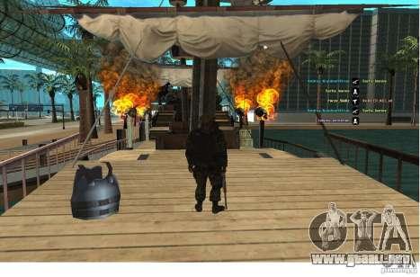 Las fuerzas especiales Berkrut para GTA San Andreas segunda pantalla