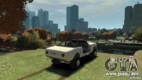 Ford Mustang Sandroadster 1.0 para GTA 4 Vista posterior izquierda