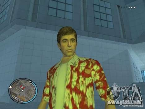 Tony Montana para GTA San Andreas segunda pantalla