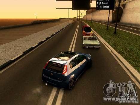 Fiat Punto Multijet para GTA San Andreas vista posterior izquierda