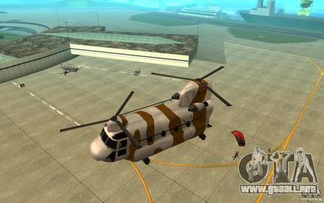 GTA SA Chinook Mod para vista inferior GTA San Andreas