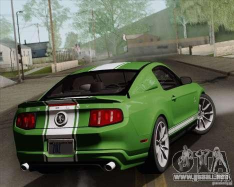 Ford Shelby GT500 Super Snake 2011 para visión interna GTA San Andreas