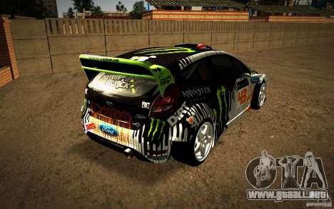 Ford Fiesta Gymkhana Four para la visión correcta GTA San Andreas