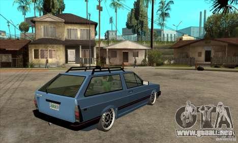 VW Fox 1989 v.2.0 para la visión correcta GTA San Andreas