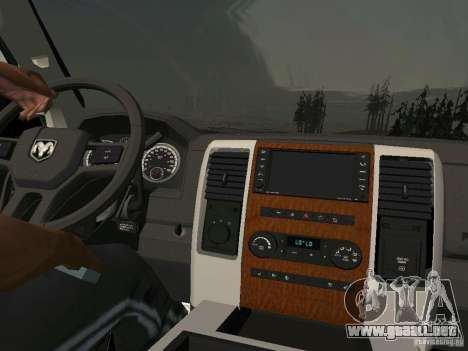 Dodge Ram 1500 Longhorn 2012 para GTA San Andreas vista posterior izquierda