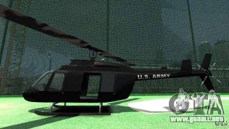 Black U.S. ARMY Helicopter v0.2 para GTA 4 Vista posterior izquierda