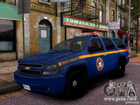 Chevrolet Tahoe New York Police para GTA 4 vista lateral