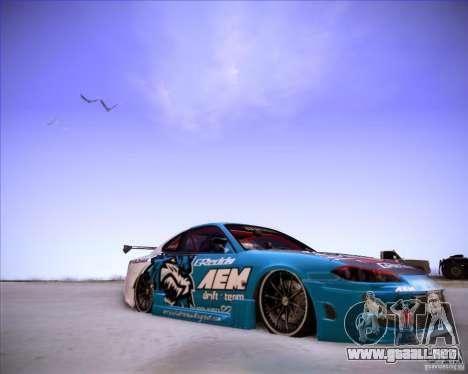 Nissan Silvia S15 Blue Tiger para la visión correcta GTA San Andreas