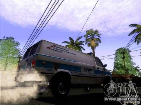 Chevrolet VAN G20 NYPD SWAT para GTA San Andreas vista hacia atrás
