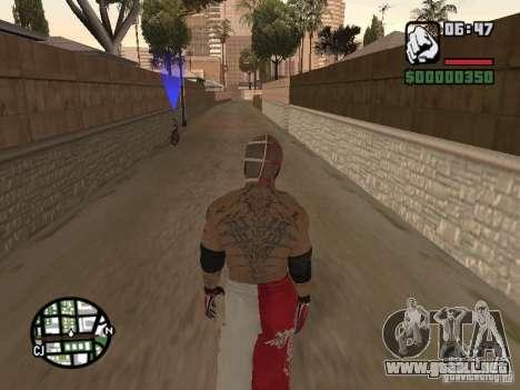 Rey Mysterio para GTA San Andreas sucesivamente de pantalla