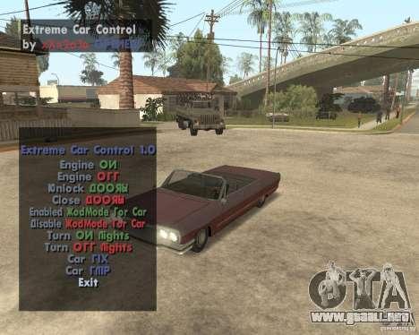 Extreme Car Mod (Single Player) para GTA San Andreas segunda pantalla